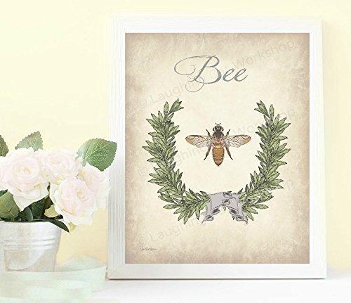 Amazon Bee Art Bee Bathroom Print Bee Home Decor Vintage Bee
