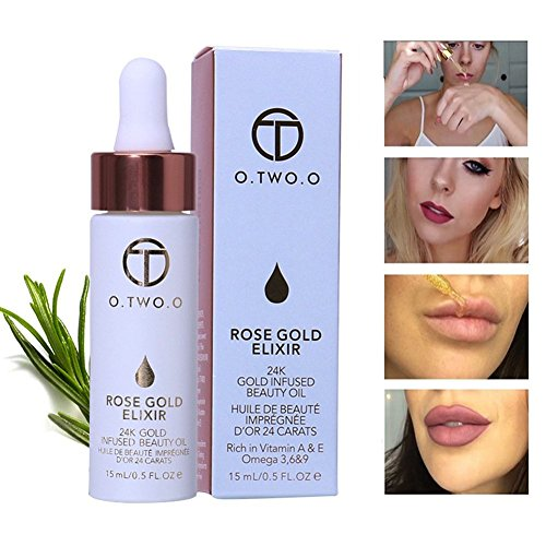 24k Rose Gold Elixir Skin Makeup Oil BaiMoon Lip Liquid Foundation Anti-aging Essential (Elixir Liquid Vitamins)