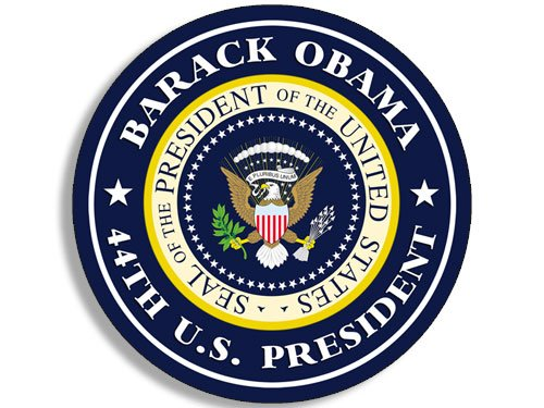American Vinyl Round Barack Obama 44th US President Sticker (Seal Political us Logo) Barack Obama Bumper Sticker Free