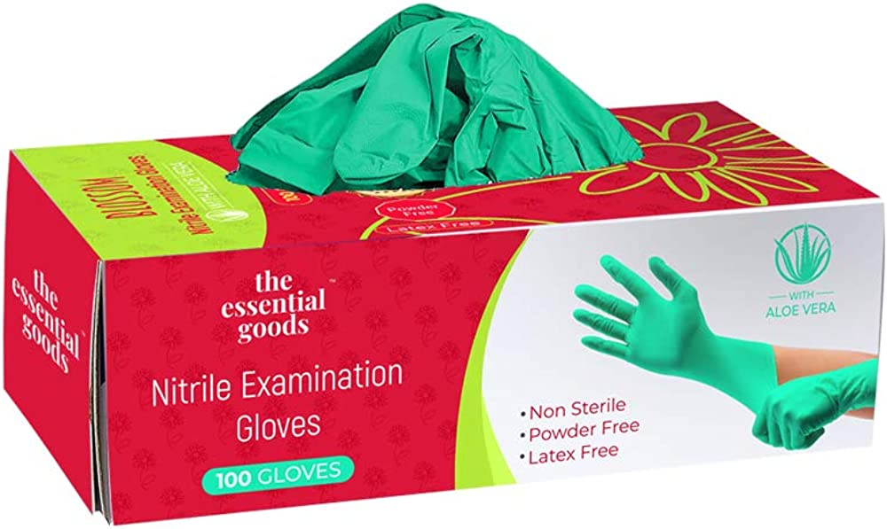 The Essential Goods Medical Disposable Vinyl Gloves 100 Count