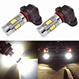 Alla Lighting 3200 Lumens Newest Version High Power 3030 27-SMD Super Extremely Bright 6000K White 9006 HB4 LED Bulb for Fog Light Bulbs Lamp Replacement
