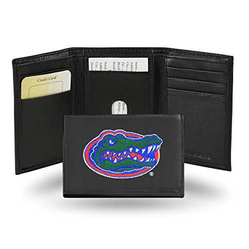 Rico Industries NCAA Florida Gators Embroidered Leather Trifold Wallet