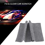 CAJISO Clear Car Scratch Repair Cloth Polish for Light Paint Scratches Microfiber Remover Scuffs on Surface Repair Applicator for