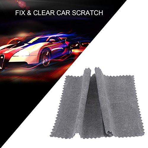 CAJISO Clear Car Scratch Repair Cloth Polish for Light Paint Scratches Microfiber Remover Scuffs on Surface Repair Applicator for All - Scratches Fix Car Light On