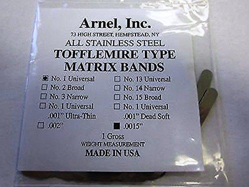 Matrix Bands Tofflemire .0015 Adult Universal #1 (Matrix Bands)