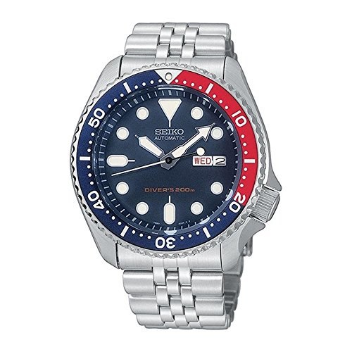 Seiko Men's SKX009K2 Diver's Analog Automatic Stainless Steel Watch