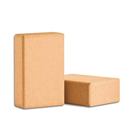 Amazon.com : Heilsa 2 pcs Yoga Blocks, High Density Cork ...