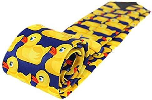 Bright Shining Fashion Cartoon Men Tie Fancy paperella modello cravatta giallo