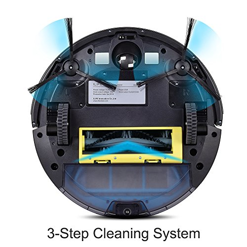 ILIFE A4s Robot Vacuum Cleaner with Strong Suction and Remote Control, Super Quiet Design for Thin Carpet and Hard Floors