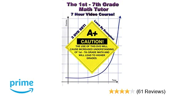 Amazon Com The 1st 7th Grade Math Tutor 7 Hour Course 2 Dvd Set Learn By Examples Addition Subtraction Multiplication Division Fractions