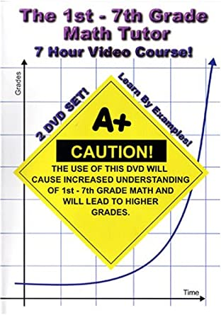 The 1st 7th Grade Math Tutor 7 Hour Course 2 Dvd Set
