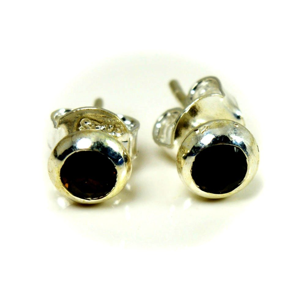Gemsonclick Natural Smoky Quartz Earrings 925 Sterling Silver Jewelery For Women