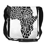 Lovebbag Illustration Of Africa Continent Map As A Animal Skin Wilderness Species Art Print Crossbody Messenger Bag