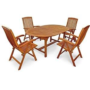 "'Indoba Muebles de Jardín Set, 5piezas ""Sun Flair–Jardín Set–Serie, marrón, 220x 110x 74cm, Ind de 70000de sfse5"