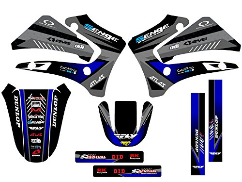 Senge Graphics 2000-2007 Yamaha TTR 125, Surge Black Graphics Kit