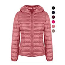 Jacket For Women,Water Repellent Hooded Lightweight Packable Down Jacket
