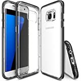 Galaxy S7 Edge Case - Ringke FRAME **Dual-Layer Reinforced TPU Premium Bumper**[SF Black] Drop Protection Clear Soft Shock Absorption Protection Bumper for Samsung Galaxy S7 Edge
