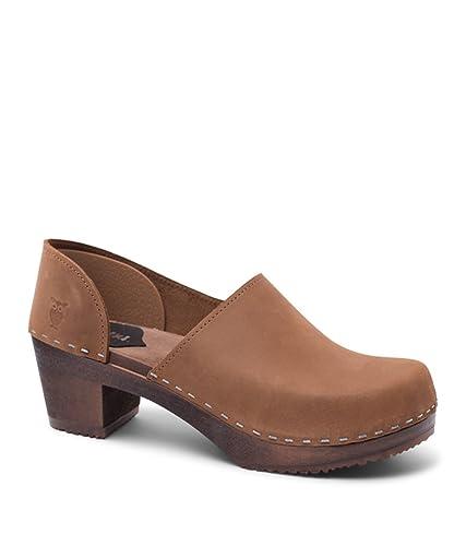 d62ac565456 Sandgrens Swedish High Heel Wooden Clogs for Women