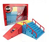 Remeehi Mini Finger Skateboard Ramp with Stairs Educational Fancy Toys for Kids