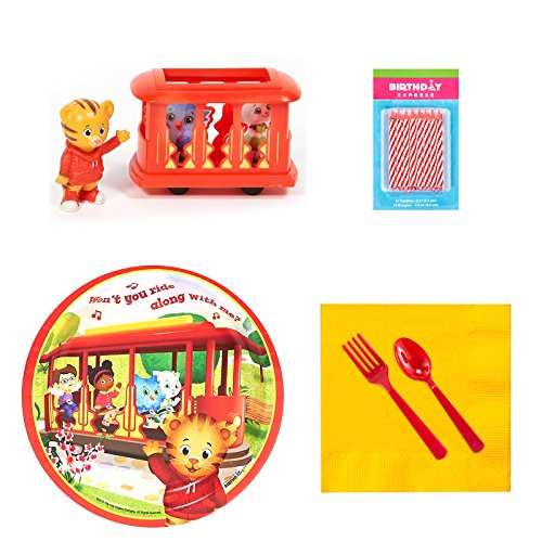 BirthdayExpress Daniel Tigers Neighborhood Party Supplies Tableware Cake Decoration Kit]()