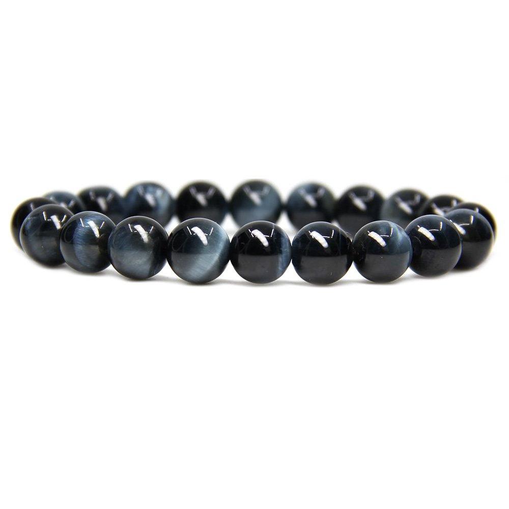 Amandastone Natural Genuine Semi-Precious Gemstones Healing 10mm Beaded Stretch Bracelet 7 Unisex JAMAN-10-B82