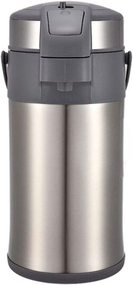 TPXR 断熱ポット、304ステンレス鋼空気圧湯たんぽ、ホームアウトドアエッセンシャルウォーターボトル、断熱材ロックコールドダブル機能、容量:4L (Color : Silver, Size : 4L)