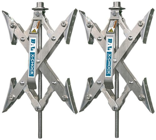 X-Chock Wheel Stabilizer - Pair - One Handle - 28012 (Renewed) by BAL R.V. Products Group