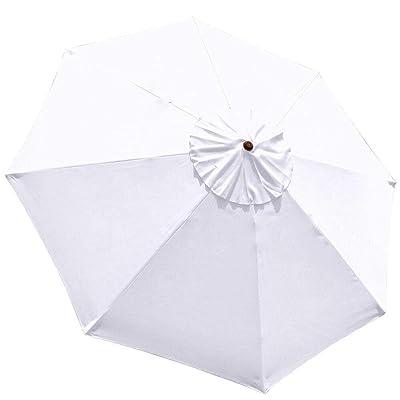 White 9ft Outdoor Patio Umbrella Replacement Top Canopy : Garden & Outdoor