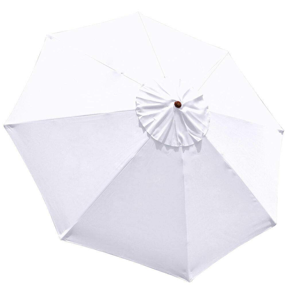 White 9ft Outdoor Patio Umbrella Replacement Top Canopy