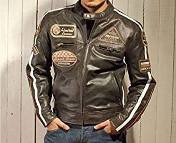 M Motorradjacke aus Nappa Leder BOSmoto Herren
