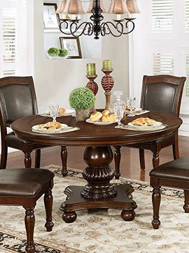 Amazon.com - Alpena Brown Cherry Wood Round Dining Table by ...