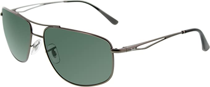 8d74c8d778 Image Unavailable. Image not available for. Colour  Ray-Ban Men s  RB3490-029 71-62 Gunmetal Square Sunglasses