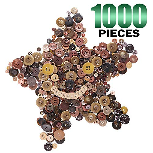1000 black buttons - 3