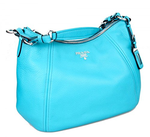 Prada Women's BR5096 Turquoise Leather Shoulder - Handbag Shoulder Prada