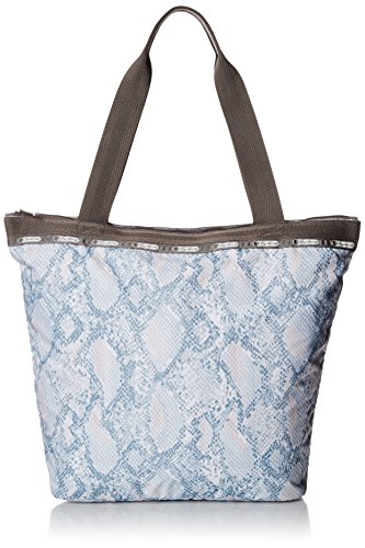 LeSportsac Hailey Tote Shoulder Bag, Aqua Snake, One Size