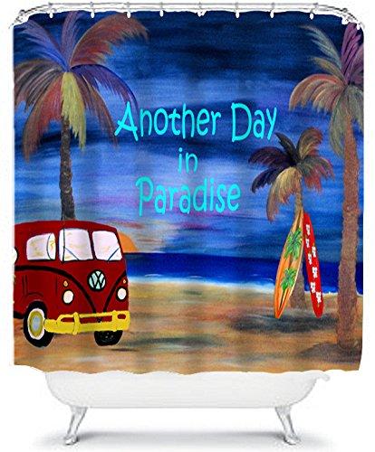 Amazon Vw Beach Bus House Shower Curtain Home Kitchen