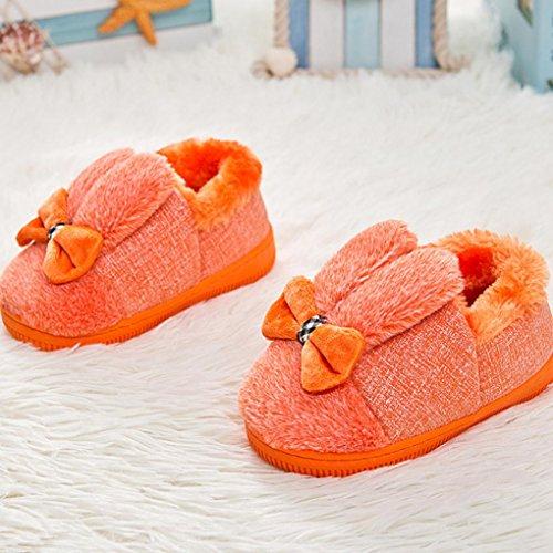 Schuhe Sole Hunpta Krippe Stiefel Baby Soft Soft Schnee Leder Bowknot Stiefel Gummi Orange Kleinkind xqw4fSXvq