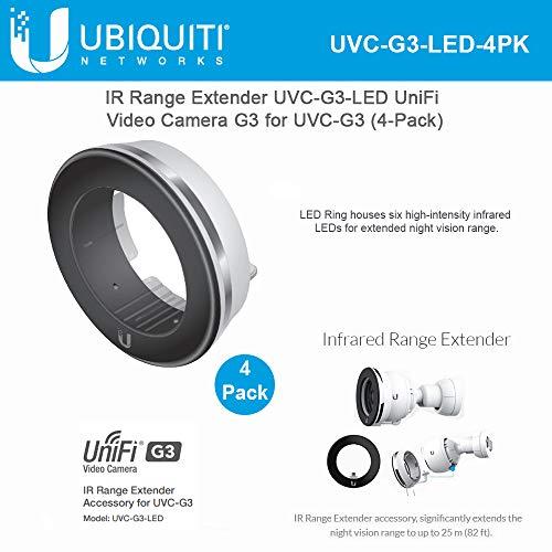Ubiquiti Networks 4 Pack UniFi G3 Series IR LED Range Extender for UVC-G3 Bullet Camera