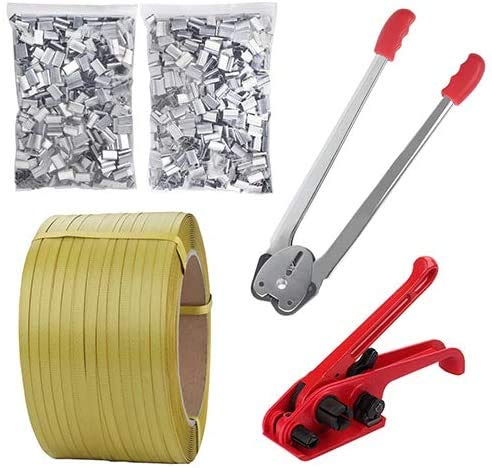 Pallet Packaging Strapping Banding Kit Tensioner Tool Sealer 3200 Length x 1//2 Wide Coil Reel for Packing