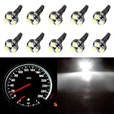 96 bronco center console - CCIYU T5 37 73 74 Wedge 3-SMD Speedometer Instrument Gauge Cluster LED Light Bulbs,10 Pack White