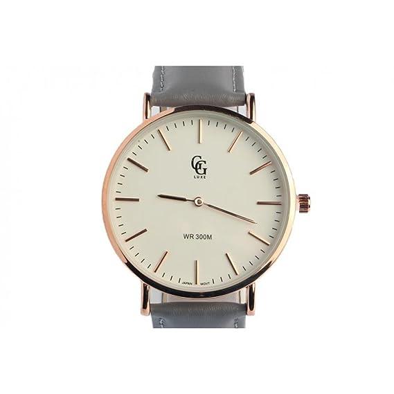 Reloj Pulsera Piel Gris Reloj Dore Nelson – hombre