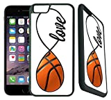 [TeleSkins] - Basketball - iPhone 6 Plus / 6S Plus Case - Ultra Durable Slim Fit, Protective Plastic with Soft RUBBER TPU Snap On Back Case / Cover for Girls. [Fits iPhone 6 Plus & 6S Plus (5.5 inch]