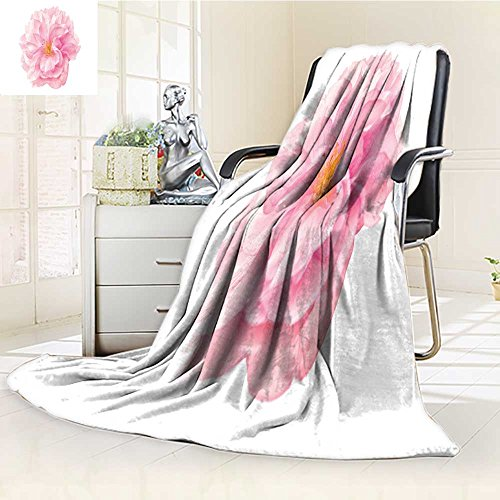 Decorative Throw Blanket Ultra-Plush Comfort Sakura Flower Cherry Blossom Isolated on White Background Shallow Depth Soft to Soft, Colorful, Oversized   Home, Couch, Outdoor, Travel Use(60