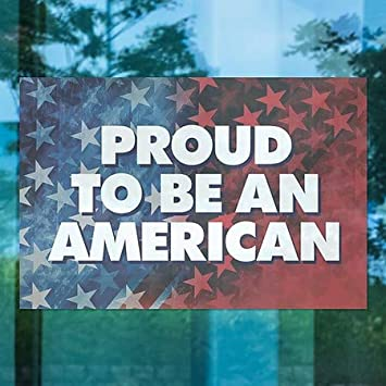 5-Pack CGSignLab | 18x12 Inner CircleProud to be an American Window Cling
