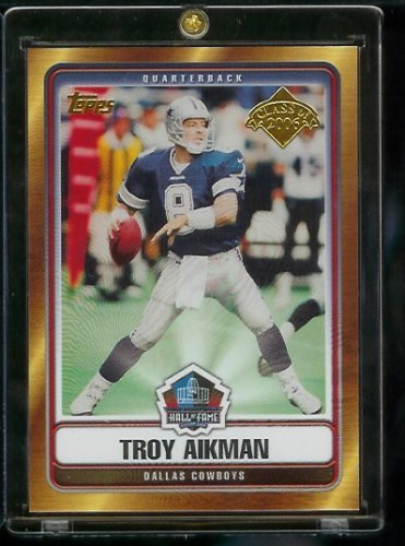 (2006 Topps # Troy Aikman Dallas Cowboys Hall of Fame Limited Edition Football Card Class of 2006)