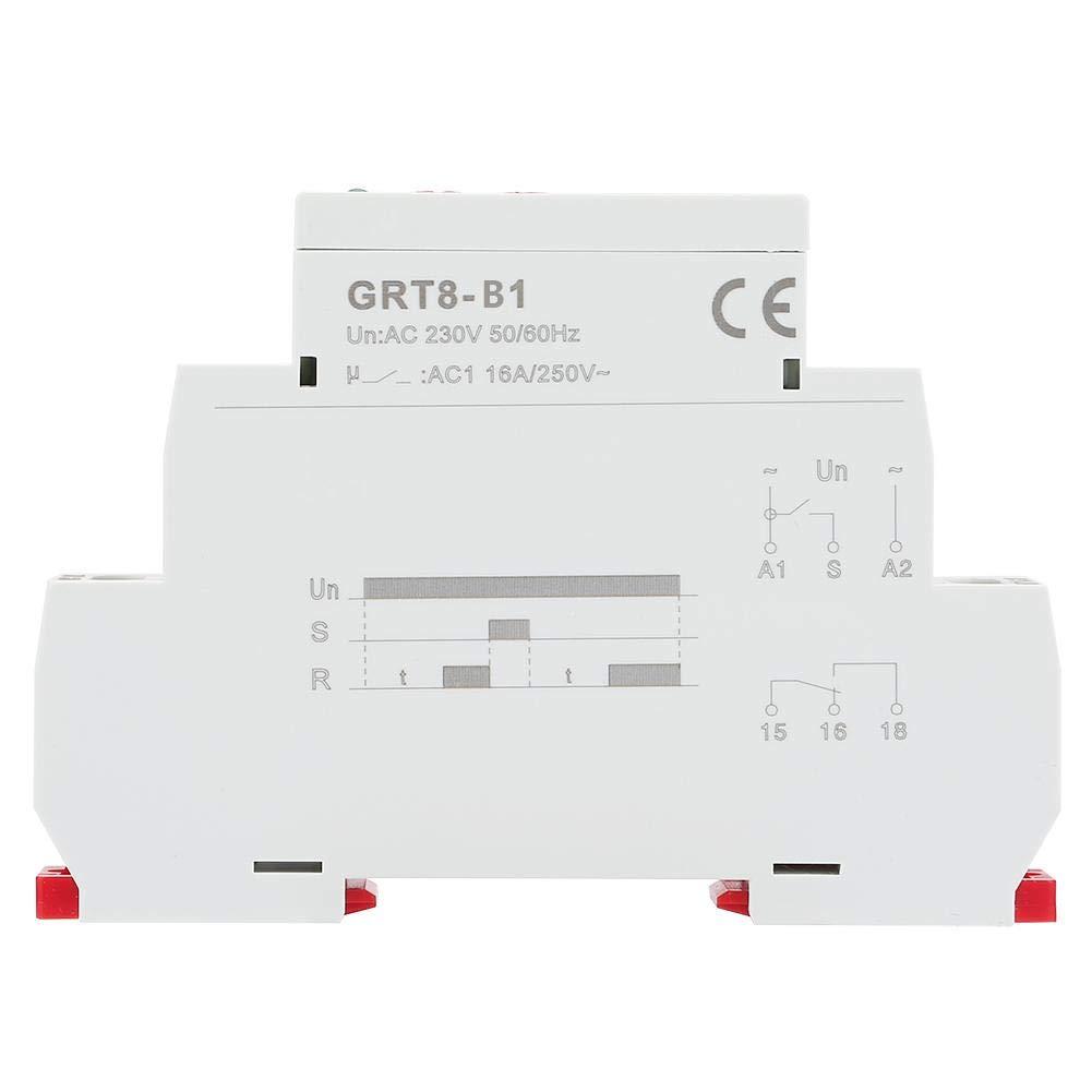 Liukouu GRT8-B1 Mini d/élai de mise hors tension Relais temporisateur Relais Type de rail DIN AC 220V