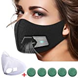 N95 Automatic Respirator Mask,Air Purifying Mask,Anti Pollution Mask For Pollen Allergy, Dust PM2.5, Running, Cycling and Outdoor Activities (Complete set, Black)