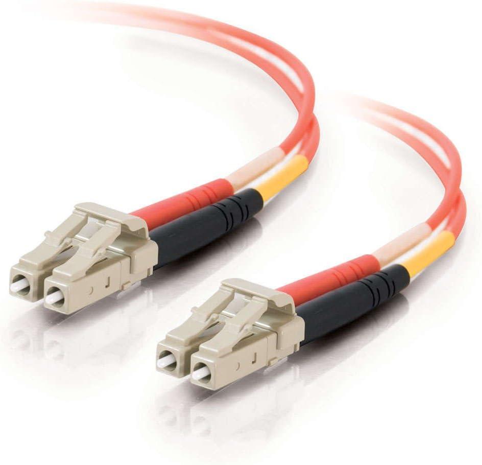 Orange 23 Feet, 7 Meters TAA Compliant C2G 11108 OM1 Fiber Optic Cable LC-LC 62.5//125 Duplex Multimode PVC Fiber Cable