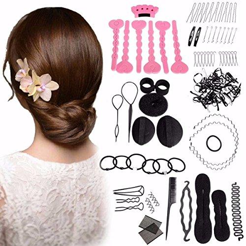 LuckyFine Dame Frisurenhilfe Füllstoff Haar Clip-Pads Haar Frisur Klammer Haar Styling Werkzeug Set