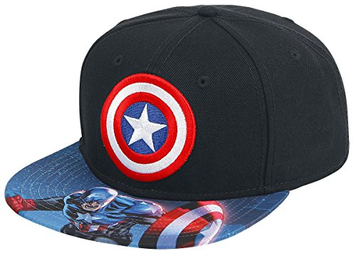 Captain America New Costume Avengers (BIOWORLD Marvel Captain America Sublimated Bill Snapback Cap, Black)